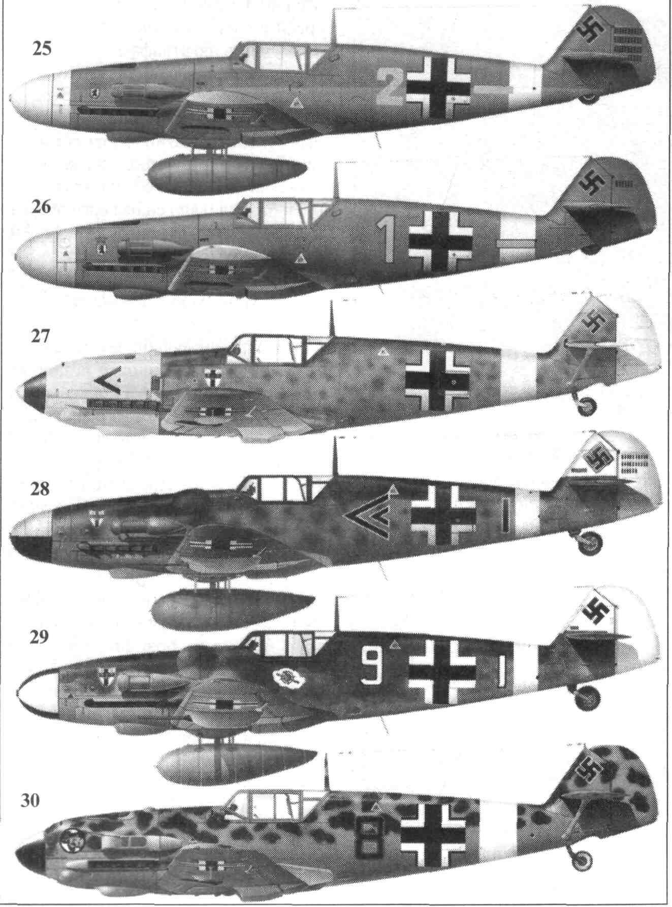 Bf-109 f4 схема окраски